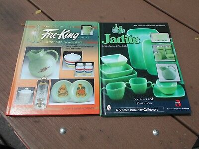Lot of 2 Jadeite and Fire-King identification & price guide books - color photos