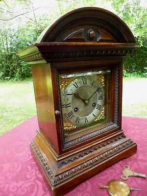 ** Very Attractive Large Edwardian Striking Bracket Clock ** Superb Quality **