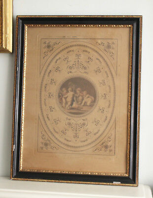Beautiful c18th Hand Coloured Engraving No 3, FRANCESCO BARTOLOZZI, Putti