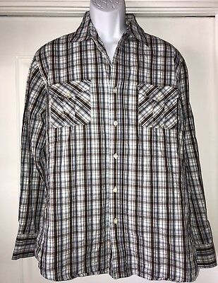 56310e993cf Paper Denim  Cloth Men s Long Sleeve Button Up Shirt. Size Large