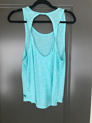 Victorias Secret PINK Tank Top Turquoise open twistback, Small VS tank sexy back