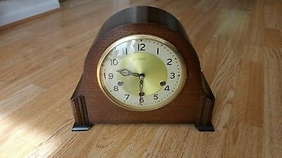 Art Deco Smiths 8 Day Westminster Chimes Mantel Clock Excellent