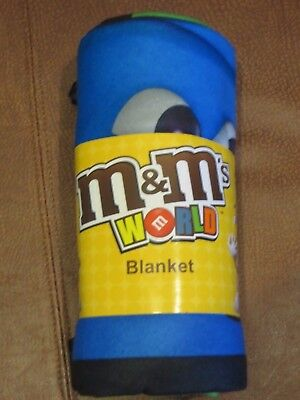 """M&m's Big Face Characters Blanket. New Edition 2017. 50"""" X 60"""""""