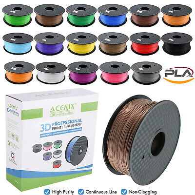 ACENIX® 3D Printer Filament - PLA - 1.75mm, 1KG Spool Filament - Various Colours