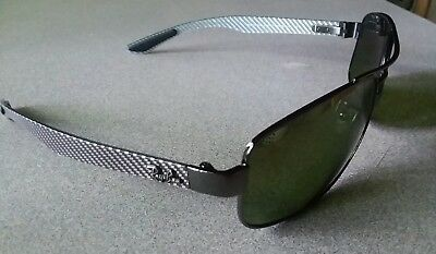 27133ab943 New Ray Ban Polarized Chromance Lenses RB8318CH Gunmetal Carbon Fiber  Sunglasses