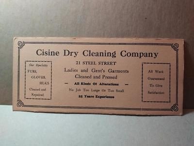 1168-----c.1930 Cisine Dry Cleaning ink blotter --- Youngstown Ohio
