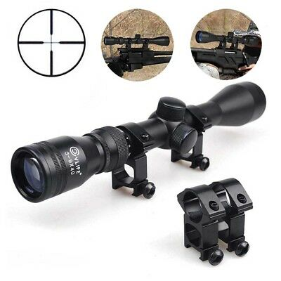 CVLIFE 3-9x40 Mil Dot Rifle Optics Sniper Hunting Scope Sight + 20mm Rail Mount