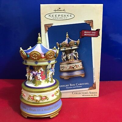 Hallmark Ornament Jewelry Box Carousel 2003 Music and Movement NEW D37