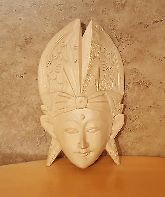 INDONESIAN DIETY WALL Face Mask Hand Carved Wood Wall Art #2 ...