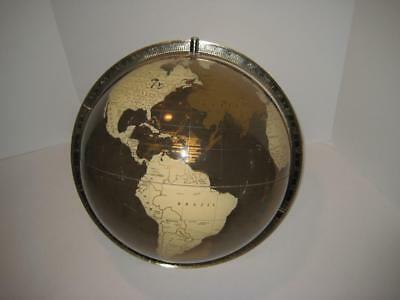 """Rare Vintage Spherical Concepts Clear Amber Acrylic World Globe - 12"""" Diameter"""
