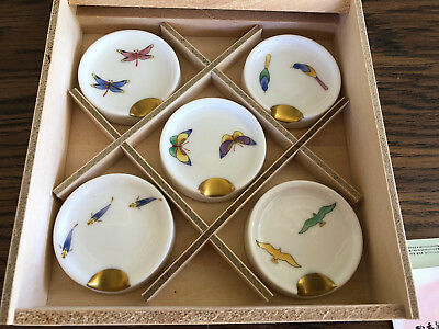 Koransha Boxed Set of 5 Spoon Rests Nakayoshi Series Fine Japanese Porcelain