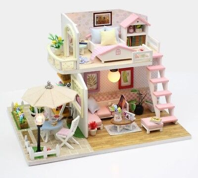 Doll House DIY Kit With Furniture 1:24 scale