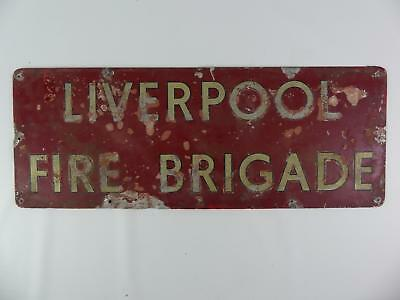 (Ref165 6) Merseyside/Liverpool Fire Brigade Old Painted Sign