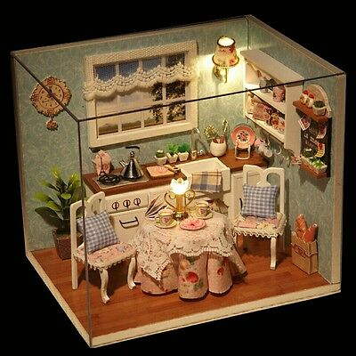Doll House Miniature DIY Kitchen With Furniture 1:24 scale