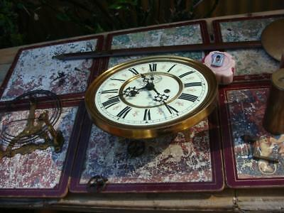 Antique Clock Part Vintage Movement Gustav Becker For Restoration Spare / Repair