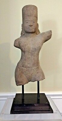 Khmer Style Sandstone Figure - Thailand/Cambodia - Ex: Chait Galleries