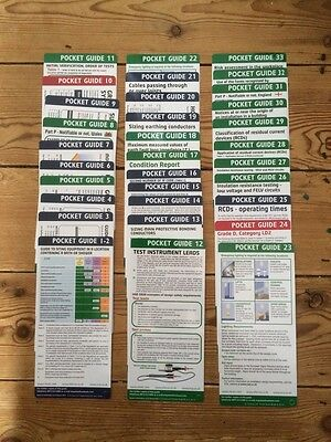 NICEIC POCKET GUIDES 17th BS7671 No 1 To 40______1st Royal Mail Class SignedFor