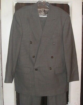 Canadian Made Mans Double Breasted Wool Suit by Ralph Lauren 40R