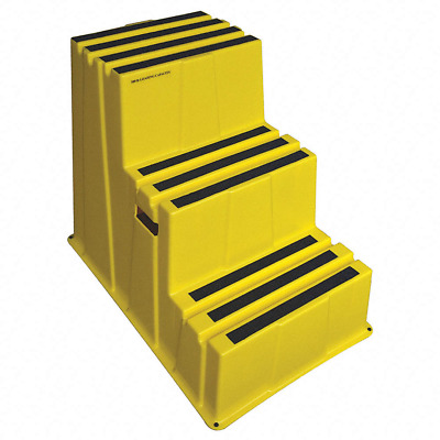 "Plastic Box Step, 28-3/4"" Overall Height, 500 lb. - 44ZJ63"