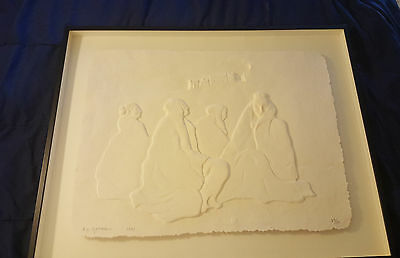 Rc Gorman - Anasazi - Hand Cast Paper - Hand Signed And Dated 1993