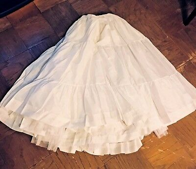 Bridal Wedding Evening Gown Tulle Petticoat Skirt Dress Ribbon Closure One Size