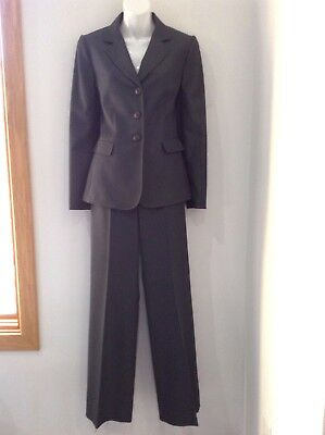 TAHARI ASL Womens Career Gray LIned Pant Suit Sz 4