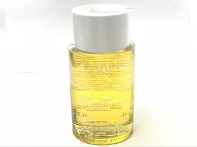 Clarins Tonic Body Treatment Oil 100% Pure Plant Extracts Tester 3.4 oz #0738056