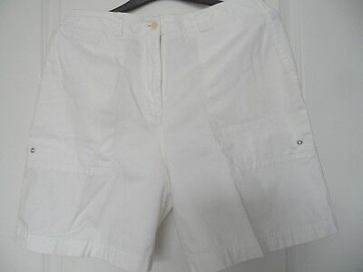 Women's Lauren Ralph Lauren Shorts White 100% Cotton Size 10