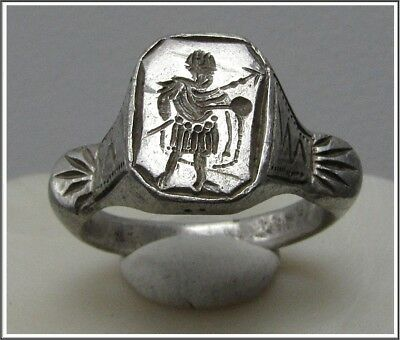 ** CONSTANTINE the GREAT **Ancient Silver Roman Legionary Ring **AMAZING **