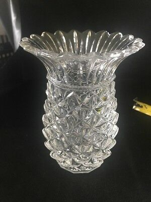 New Marquis By Waterford 625 Wedge Cut Crystal Pineapple Vase
