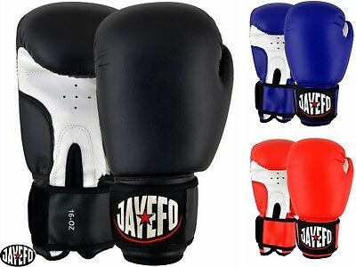 Jayefo Leather Boxing Gloves Mma Muay Thai Gloves Kick Sparring Training Bag 16