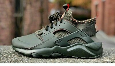 new product a63a0 f5663 Nike Air Huarache Run Ultra Se Running Shoes Cargo Khaki Men 12 New 875841- 301
