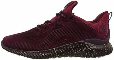 af41e46816272 Adidas AlphaBounce LEA CQ1189 Leather Maroon Men s Running Shoes Size 11.5  US