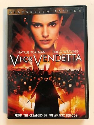 V For Vendetta (DVD, 2006, Widescreen) - Excellent Condition!