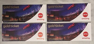 4 AMC Theatres Gold Experience Movie Tickets Theaters Pass Vouchers