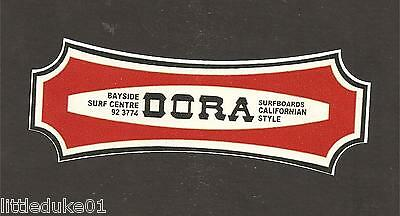"""DORA SURFBOARDS"" RETRO Sticker Decal Surfboard MIKI MICKEY 1960s LONGBOARD"