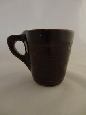 Vintage Marcrest Brown Daisy Dot Stoneware Coffee Cups/Mugs USA