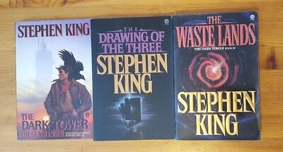 The Dark Tower Book Lot of 3 Stephen King Plume Paperback with Illustrations