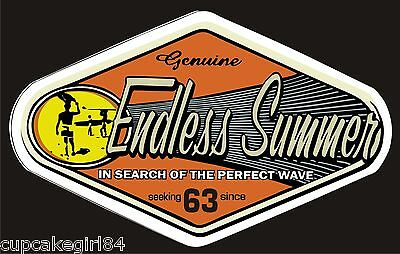 THE ENDLESS SUMMER Car Sticker Decal Surfboard UTE VAN FORD HOLDEN TRUCK VW