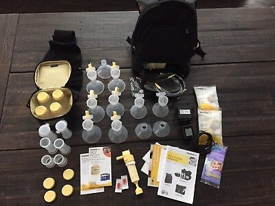 Medela In Style Advanced Double Breast Pump with Backpack + Extras