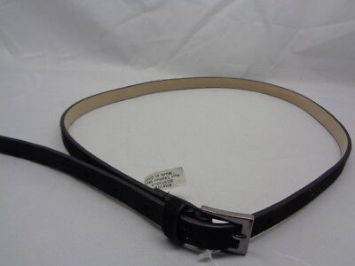 Style & Co. Skinny Belt Herringbone Black Size M Medium