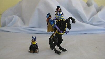 cm/custom Breyer Rider Doll, Horse and Dog to a OOAK Batgirl, Bat horse,Bat Dog