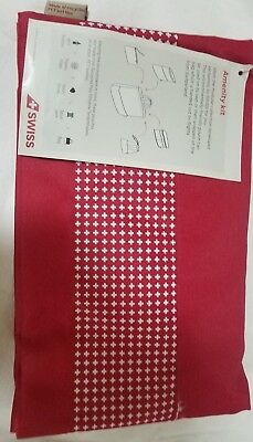 Swiss International Airlines Business Class Amenity Kit Pouch Red