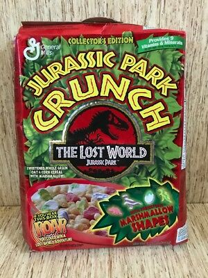 General Mills Jurassic Park Crunch The Lost World Collector's Edition Box 1997