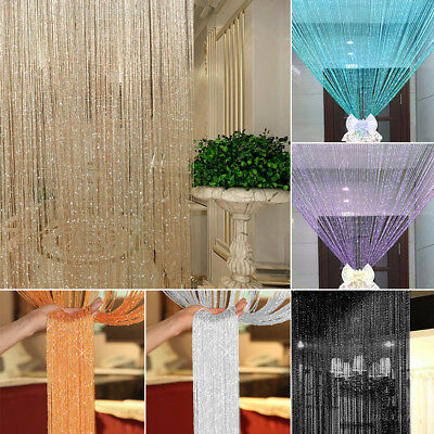String Curtains Patio Net Fringe for Door Tassel Fly Screen Windows Divider 1*2M