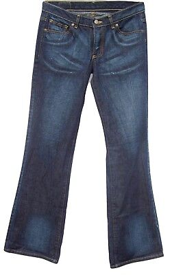 Zachary Myers Zace Jeans Womens 28 Boot Cut 100% Cotton Denim USA Made Star Pant