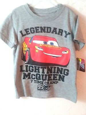 "Disney-Pixar - Boy's Youth Size ""4"" ""gray"" Premium-Graphics-Shirt"