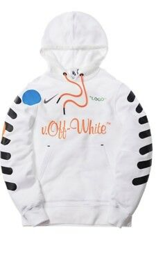 b03d1ebb NIKE X OFF-WHITE Logo Football Pullover Hoodie White Size M Ready to ...