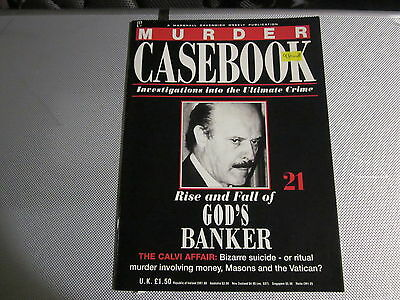 The Rise And Fall Of God's Banker, MURDER CASEBOOK 21, Roberto Calvi.