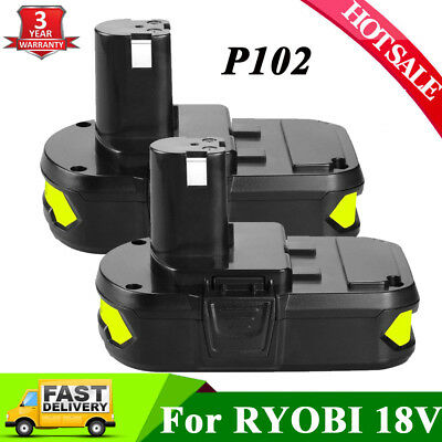 2xFor Ryobi ONE+P102 P104 18Volt 2.0Ah Lithium-Ion Compact Battery Free Shipping